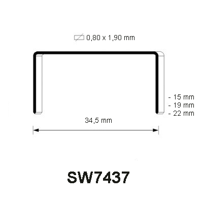 SW7437 Staple, different lengths
